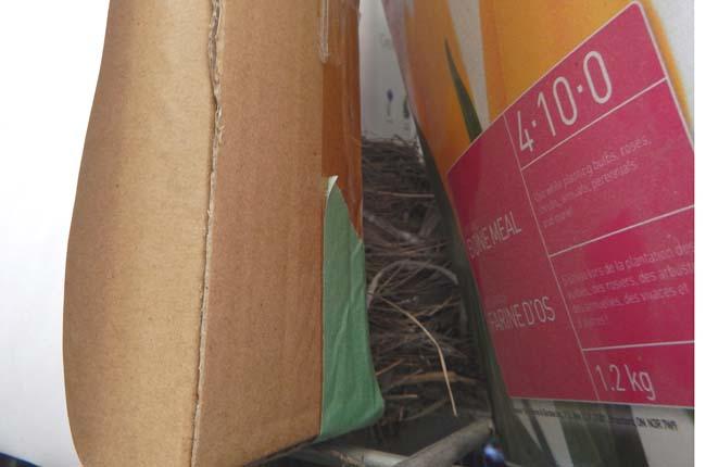 Nest on a shelf at Home Depot.